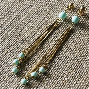 Vintage Chain with Mint Green Balls